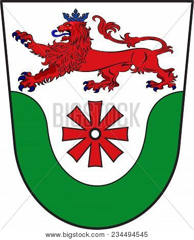 Coat Of Arms Of Erkrath Is A Town In The District Of Mettmann, In North Rhine-westphalia, Germany. V
