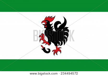 Flag Of Haan Is A Town In The District Of Mettmann, In North Rhine-westphalia, Germany. Vector Illus