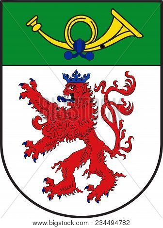 Coat Of Arms Of Langenfeld Is A Town In The District Of Mettmann In North Rhine-westphalia, Germany.