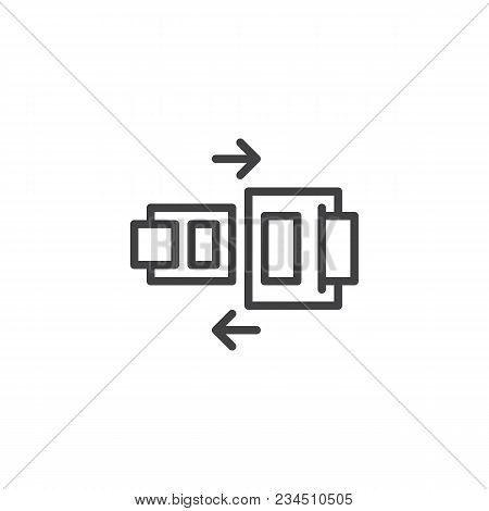 Safety Belt Outline Icon. Linear Style Sign For Mobile Concept And Web Design. Seat Belt Simple Line