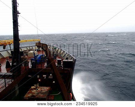 Storm In The Bering Sea, Vessel Underway