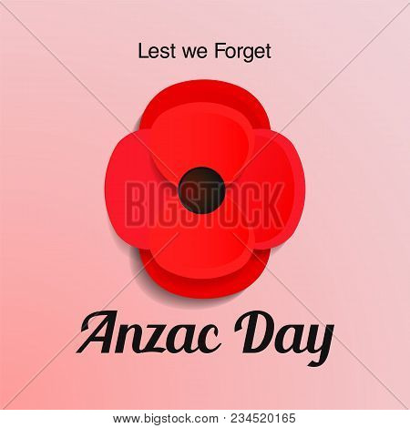 Anzac Day Vector Card Vector Photo Free Trial Bigstock