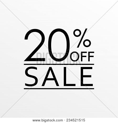 20% Off. Sale And Discount Price Icon. Sales Tag Design Template. Vector Illustration.
