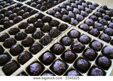 Purple And Chocolate Candy