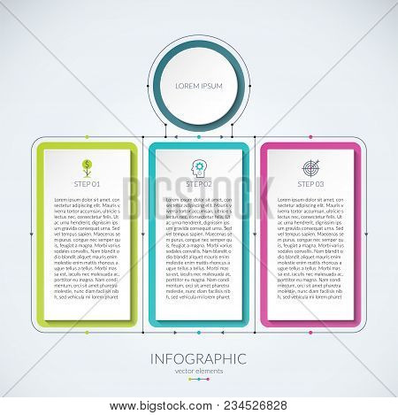 Abstract infographic vector photo free trial bigstock abstract infographic chart with 3 tabs can be used as a diagram graph data table for business presentation annual report web design ccuart Image collections