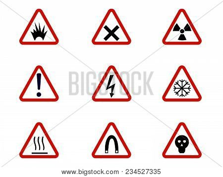 Warning Hazard Vector Photo Free Trial Bigstock