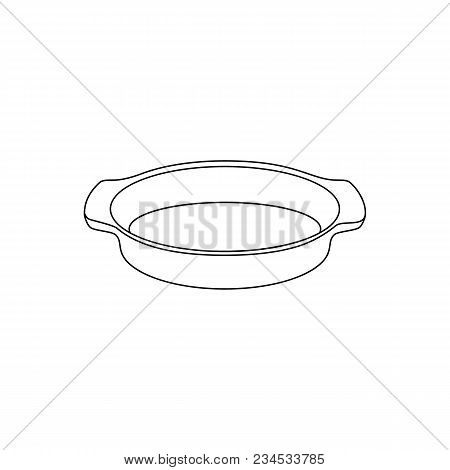 Vector Linear Illustration Of A Shape For Baking On A White Background.