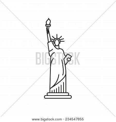 Statue Of Liberty Icon. Outline Statue Of Liberty Vector Icon For Web Design Isolated On White Backg