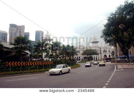 Rail Station View In Kuala Lumpur Malaysia