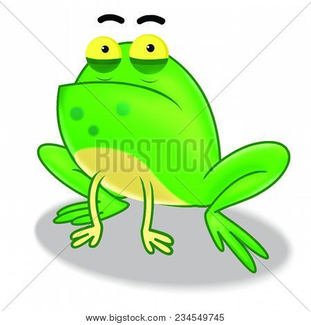 Frog A Precipitation Green In Colour Most Found In Water A Cartoon Design In Illustration