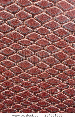 Large Red And Light Golden  Background Of Scales With Rhomboid Shapes