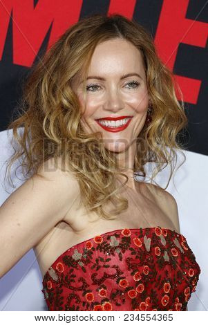 Leslie Mann at the Los Angeles premiere of 'Blockers' held at the Regency Village Theatre in Westwood, USA on April 3, 2018.