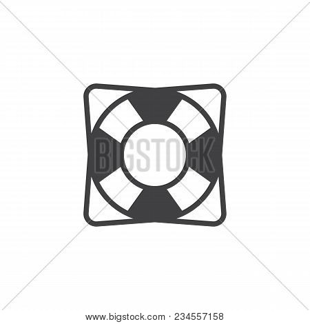 Lifebuoy Vector Icon. Filled Flat Sign For Mobile Concept And Web Design. Life Saver Simple Solid Ic