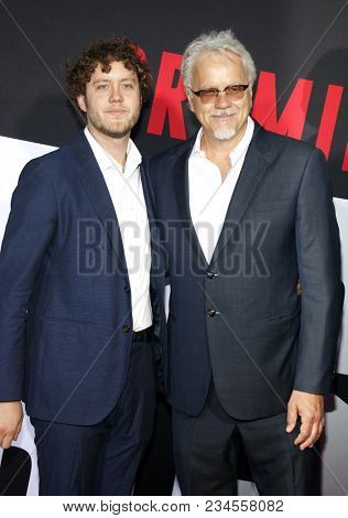 Jack Henry Robbins and Tim Robbins at the Los Angeles premiere of 'Blockers' held at the Regency Village Theatre in Westwood, USA on April 3, 2018.