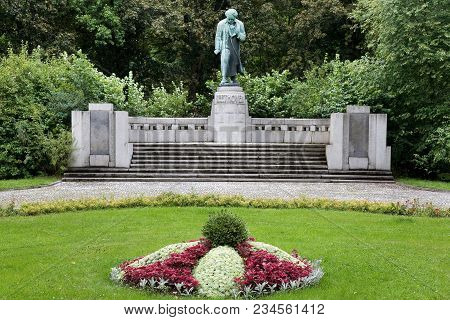 Karlovy Vary, Czech Republic - Sept 6, 2014: Ludwig Van Beethoven In Spa Town Karlovy Vary, West Boh
