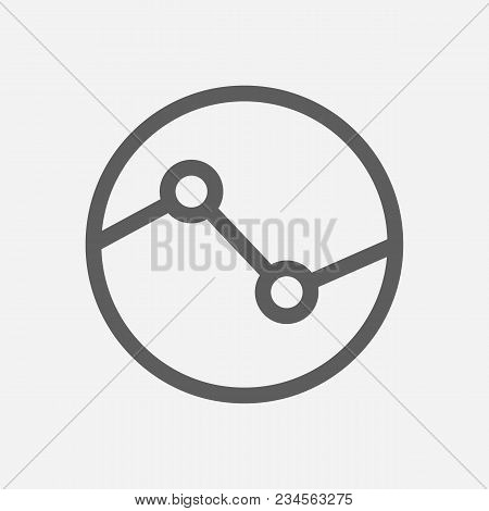Stock Sector Icon Line Symbol. Isolated Vector Illustration Of  Icon Sign Concept For Your Web Site
