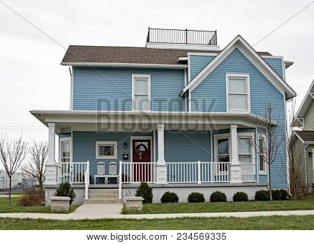 New Older Style Blue House