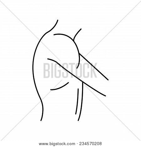 Shoulder Icon. Outline Shoulder Vector Icon For Web Design Isolated On White Background