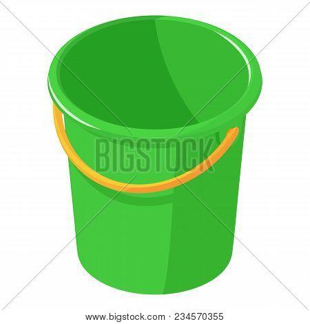 Plastic Bucket Icon. Isometric Illustration Of Plastic Bucket Vector Icon For Web