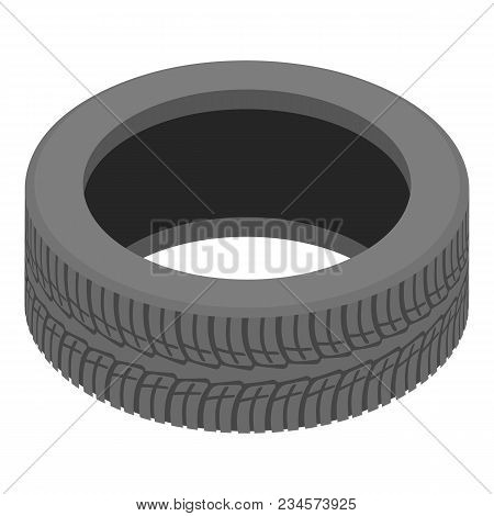 Decoration Tyre Icon. Isometric Illustration Of Decoration Tyre Vector Icon For Web