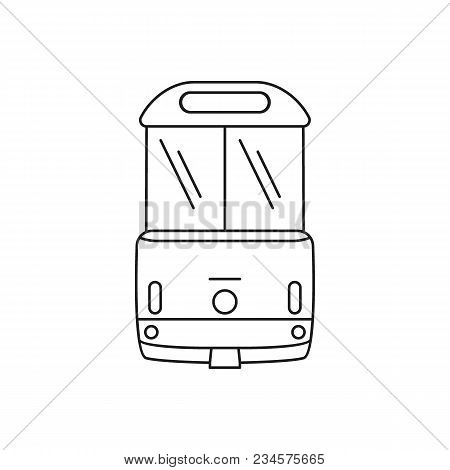 Tramway Icon. Outline Tramway Vector Icon For Web Design Isolated On White Background