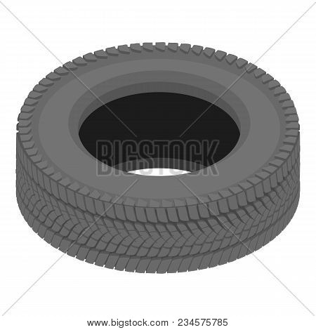 Drive Tyre Icon. Isometric Illustration Of Drive Tyre Vector Icon For Web