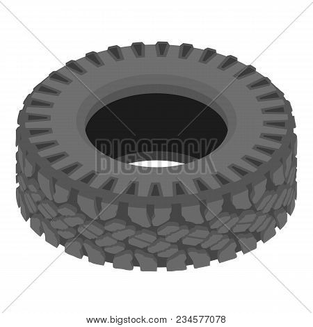 Motoring Tyre Icon. Isometric Illustration Of Motoring Tyre Vector Icon For Web
