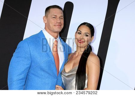 LOS ANGELES - APR 3:  John Cena, Nikki Bella at the