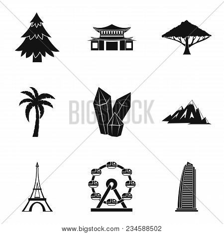 Moment Icons Set. Simple Set Of 9 Moment Vector Icons For Web Isolated On White Background