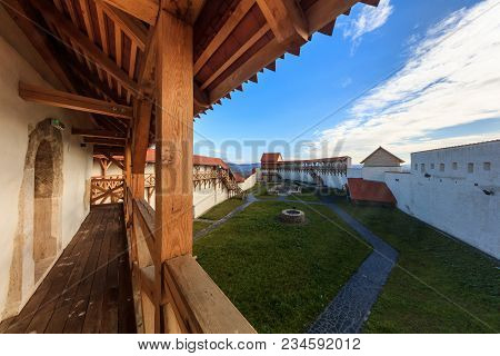 View Of The Feldioara Fortress. Transylvania, Romania