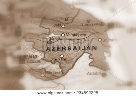 Azerbaijan, Officially The Republic Of Azerbaijan (sepia Selective Focus).