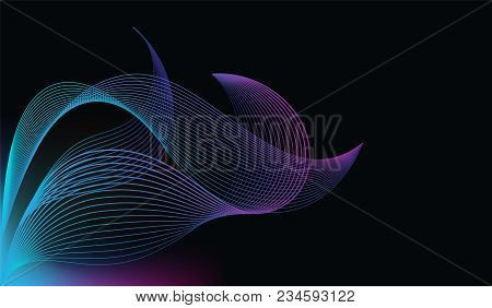 The Future Is Already Here Concept Line Vector Illustration Of Gradient Lines In Minimalist Style On