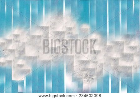 White With Gray Abstract Texture Image City Blue Strip Line Background For Use In Design, Poster, Co