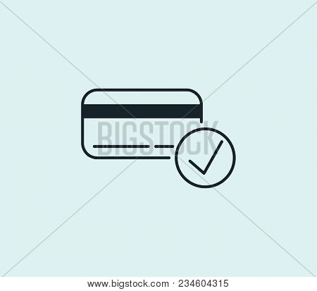 Pay Icon Line Isolated On Clean Background. Pay Icon Concept Drawing Icon Line In Modern Style.  Ill