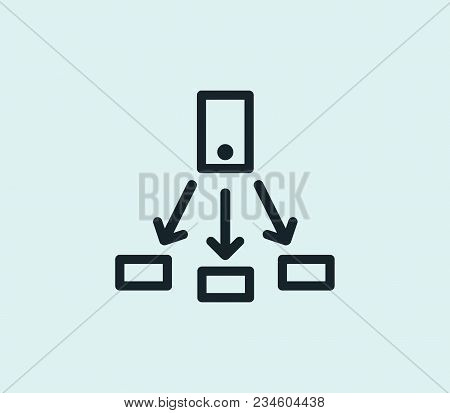 Share Icon Line Isolated On Clean Background. Sharing Concept Drawing Icon Line In Modern Style. Vec