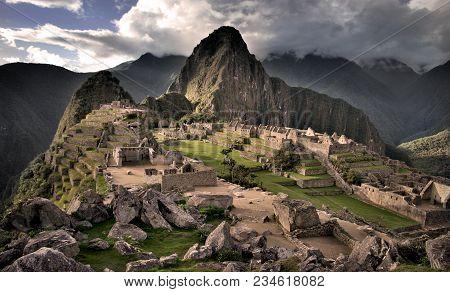 The Center Of Machu Picchu In Peru (hdr)