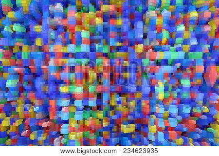 Texture With Color Abstractions. Creative Abstract Patterned Background. Abstract Pattern With Diffe