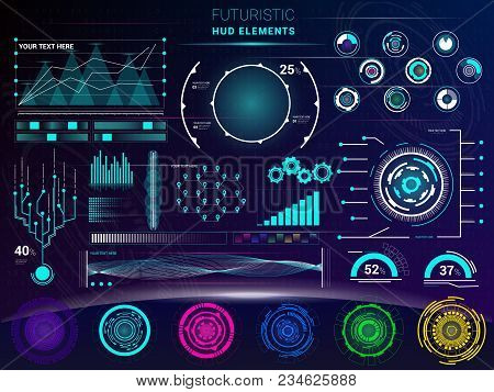 Interface Vector Interfaced Spacepanel And Hud Dashboard Futuristicwith Interfacing Hologram Technol