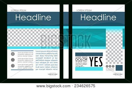 Editable Vector. A4 Business Book Cover Layout Design Template For Portfolio, Brochure, Annual Repor