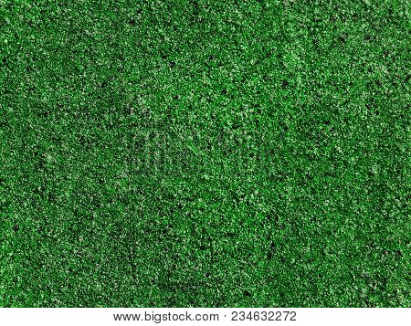 Green Carpet Texture Background. Surface Green Microfiber Plastic Carpet Mat Background Pattern Desi