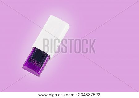 Universal Serial Bus Usb Drive Isolated Over The Purple Background.
