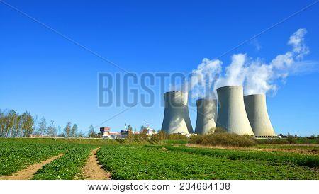 Nuclear Power Plant Temelin In Czech Republic, Europe.