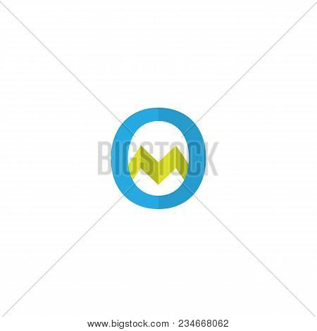 Initial Letter Om Or Mo Logo Icon. Abstract Logo Template Vector Illustration.