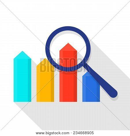 Exploring Diagram Icon. Flat Illustration Of Exploring Diagram Vector Icon For Web
