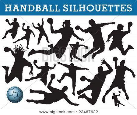 Handball silhouettes