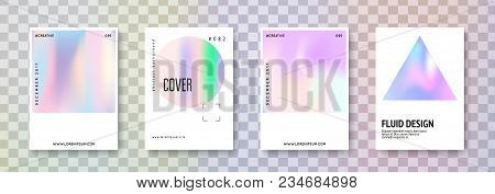 Cover Fluid Set. Abstract Backgrounds. Stylish Cover Fluid With Gradient Mesh. 90s, 80s Retro Style.