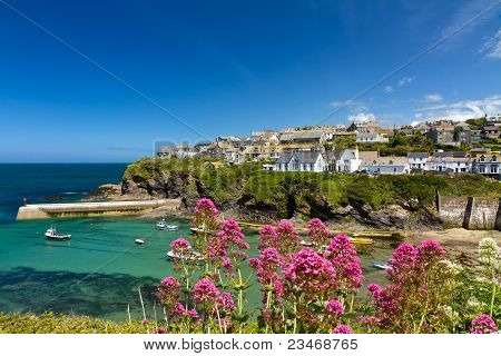 Cove and harbour of Port Isaac, Cornwall, England