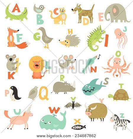 Complete Children Abc Alphabet For Babies Toddlers Preschoolers With Funny Animals Pictures For Each