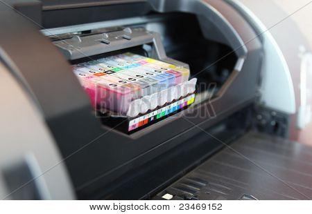 Inkjet Printer Close Up