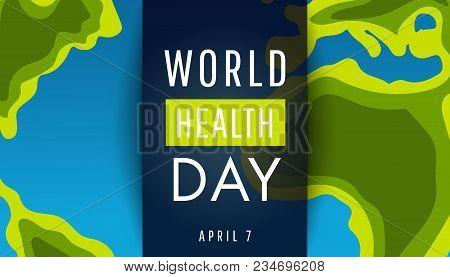 Vector Illustration Of World Health Day Concept  Vector Illustration